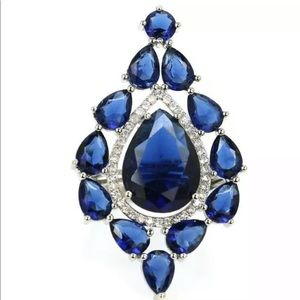 Tanzanite Large Ring 925 SZ 8 - New